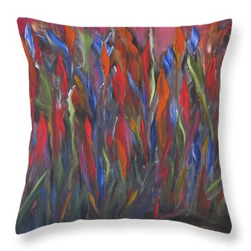 Coming Up Color Throw Pillow