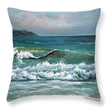 Coming Wave Throw Pillow by Mikhail Savchenko