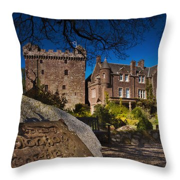 Comlongon Castle Throw Pillow