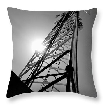 Comm Tower Throw Pillow by Amar Sheow