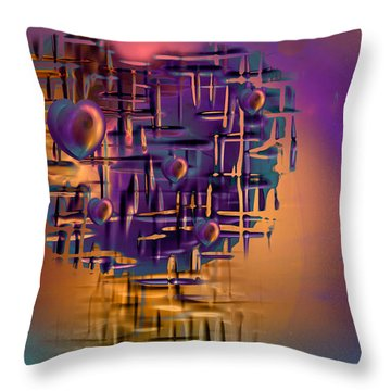 Command Central Throw Pillow by Phil Sadler