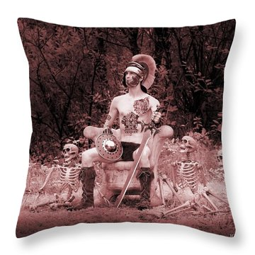 Commander On The Killing Fields Throw Pillow