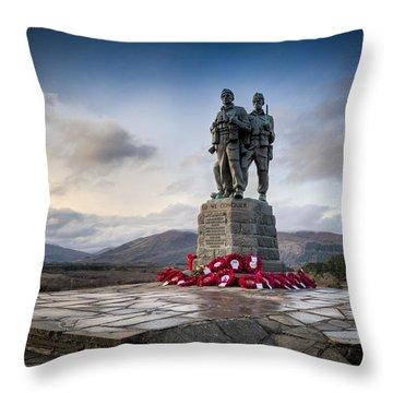 Commando Memorial At Spean Bridge Throw Pillow