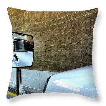 Commercial Truck Throw Pillow