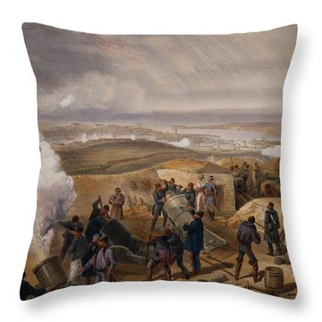 Commissariat Difficulties, Plate Throw Pillow