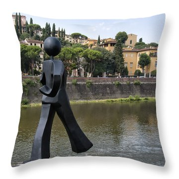 Common Man Throw Pillow