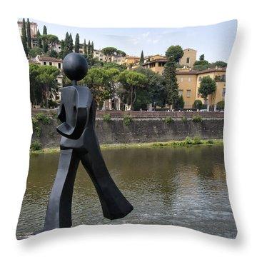 Common Man Throw Pillow
