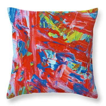 Commotion Throw Pillow by Artist Ai