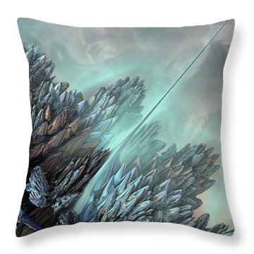Throw Pillow featuring the digital art Communication Tower by Melissa Messick