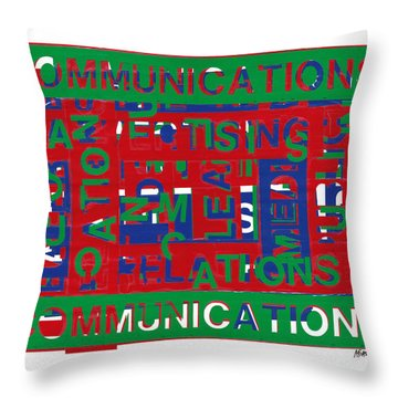 Communications Breakdown Throw Pillow by Agustin Goba