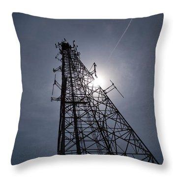 Communication Tower-3 Throw Pillow