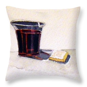 Communion Throw Pillow by Katherine Miller
