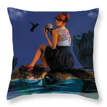Throw Pillow featuring the digital art Commute by Galen Valle