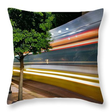 Dallas Commuter Train 052214 Throw Pillow