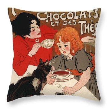 Compangnie Francaise Des Chocolats Et Des Thes Throw Pillow