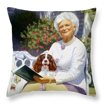 Companions In The Garden Throw Pillow by Candace Lovely