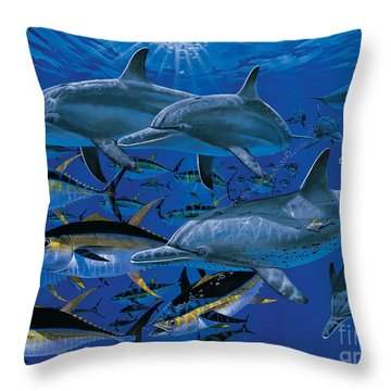 Companions Off00117 Throw Pillow by Carey Chen