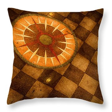 Throw Pillow featuring the photograph Compass Rose by Jay Stockhaus