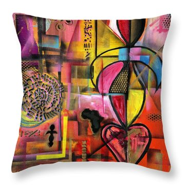 Compassionate Woman X2 Throw Pillow
