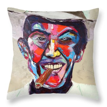 Compay Throw Pillow by Arturo Garcia