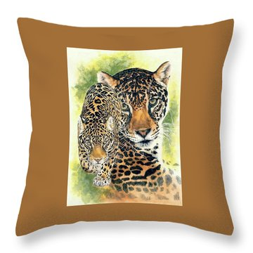 Throw Pillow featuring the mixed media Compelling by Barbara Keith