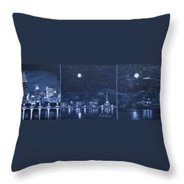 Competing Lights Throw Pillow