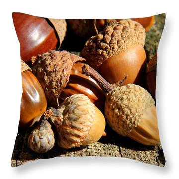 Completely Nuts Throw Pillow