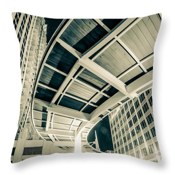 Throw Pillow featuring the photograph Complex Architecture by Alex Grichenko