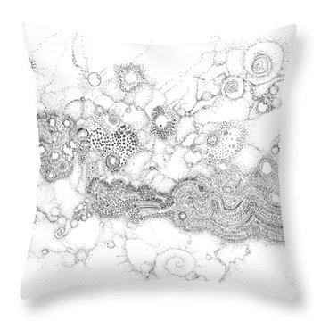 Complex Fluid A Novel Surfactancy Throw Pillow by Regina Valluzzi