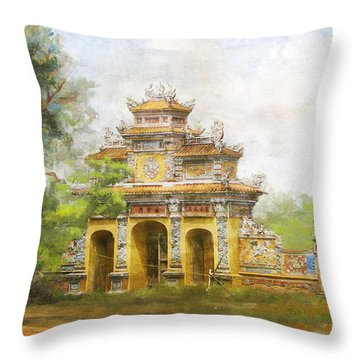 Complex Of Hue Monuments Throw Pillow
