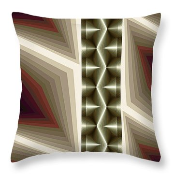 Composition 235 Throw Pillow by Terry Reynoldson