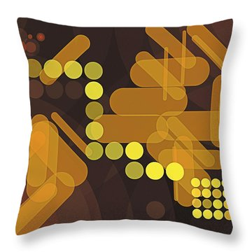 Composition 38 Throw Pillow by Terry Reynoldson