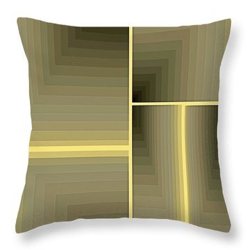 Composition 64 Throw Pillow by Terry Reynoldson