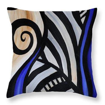 Composition Throw Pillow by Eva-Maria Becker