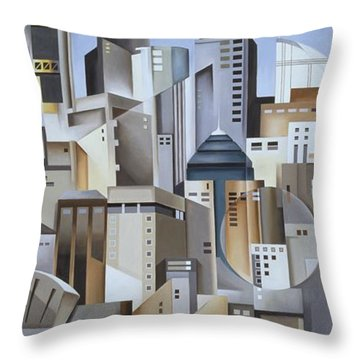 Composition Looking East Throw Pillow