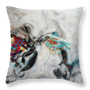 Composition On White Throw Pillow by Andrada Anghel