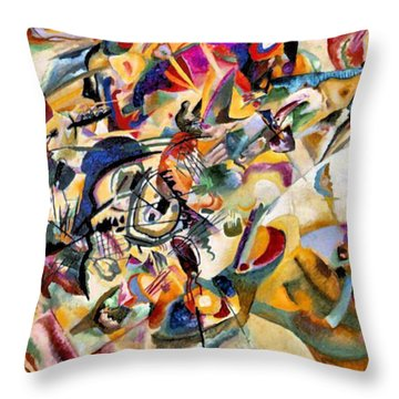 Composition Vii  Throw Pillow