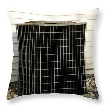 Condenser Throw Pillow by Olivier Le Queinec