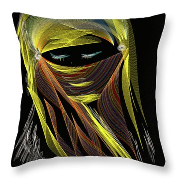 Computer Generated Image Of A Woman S Throw Pillow