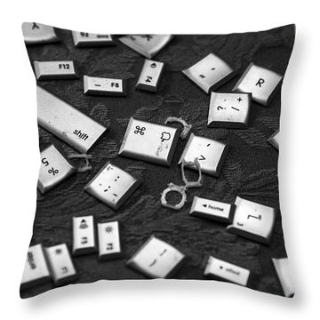 Computer Keys Throw Pillow