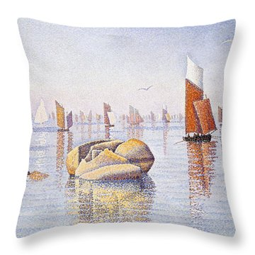 Concarneau   Quiet Morning Throw Pillow by Paul Signac