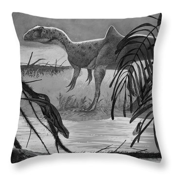Concavenator Corcovatus Searching Throw Pillow by Roman Garcia Mora