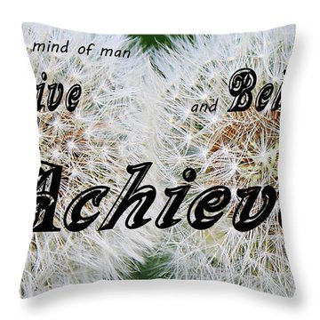 Conceive Believe Achieve Throw Pillow by Barbara Griffin