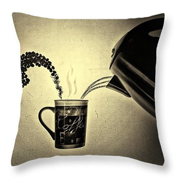 Conceptual Coffee Throw Pillow