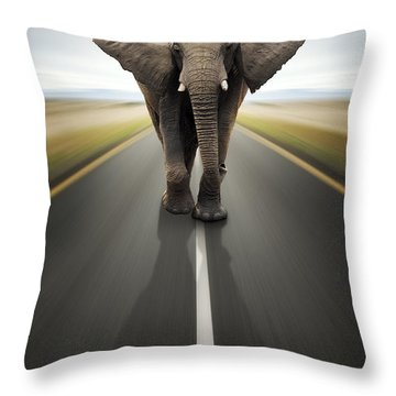 Heavy Duty Transport / Travel By Road Throw Pillow