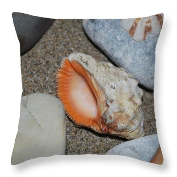 Throw Pillow featuring the photograph Conch 1 by George Katechis