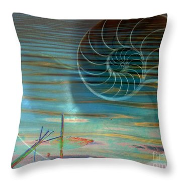 Throw Pillow featuring the photograph Conch by Irma BACKELANT GALLERIES