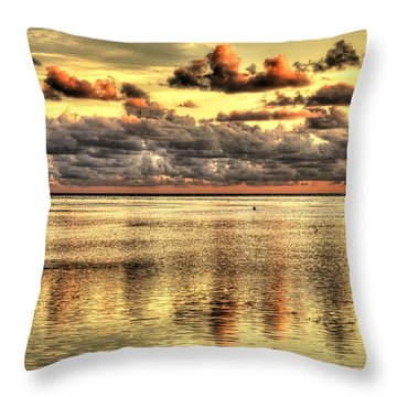 Conch Key Bay Sunset Throw Pillow