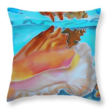 Conch Shallows Throw Pillow