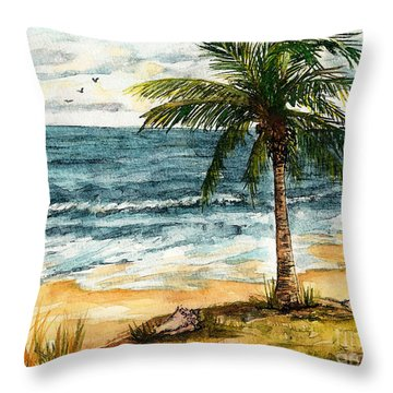 Conch Shell In The Shade Throw Pillow